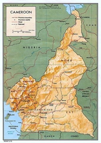 Detailed Map and Government of Cameroon